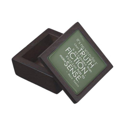Classy Mark Twain Literary Quote Gift Box in Green