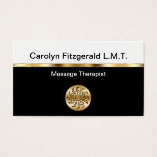 Classy Massage Therapist Business Cards