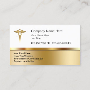 Home healthcare business cards templates zazzle classy medical business cards wajeb Image collections