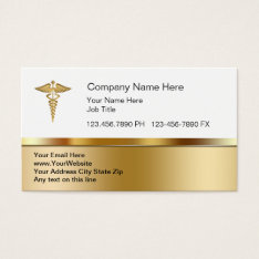 Classy Medical Business Cards at Zazzle