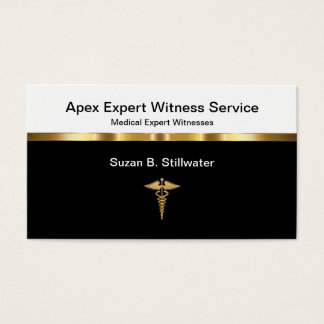 Classy Medical Expert Witness Businesscards Business Card