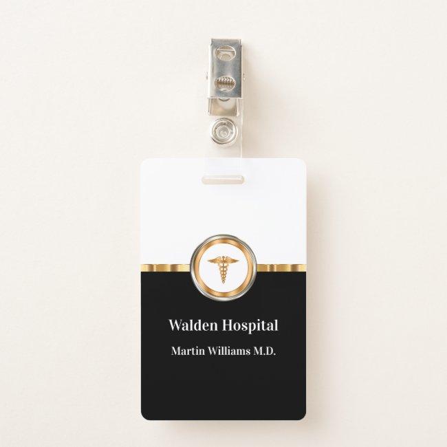 Classy Medical Facility Staff Member Badge