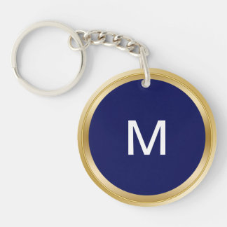 Classy Men's Monogram Keychain