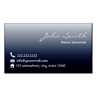 Classy Midnight Blue Dance Business Card