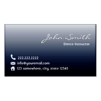 Classy Midnight Blue Dance Business Card