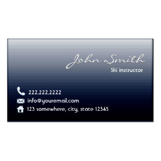 Classy Midnight Blue Ski Business Card