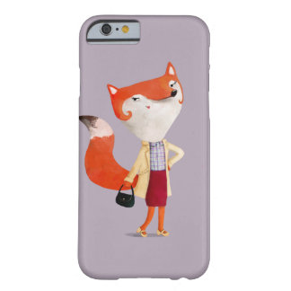 Classy Mod Fox Girl Barely There iPhone 6 Case