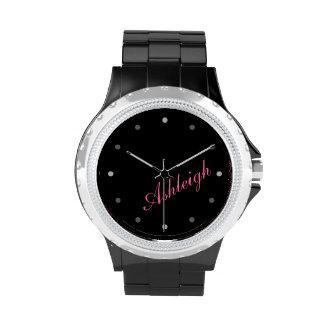 Classy Mod Ladies Personalized Monogram Wrist Watches