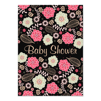 Classy Modern Floral Baby Shower Card