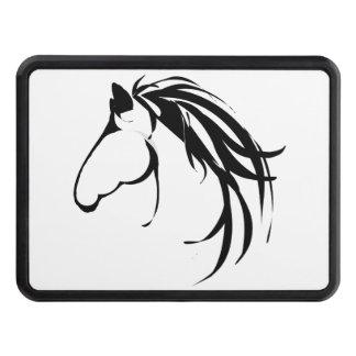 Classy Modern Horse Head Logo Design Hitch Cover