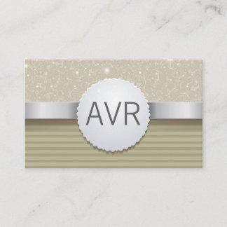 Classy  Modern Luxury Sparkle white gold glitter Business Card