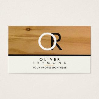 classy, modern & stylish wood texture professional business card