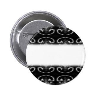 Classy Monochrome Swirl Pattern. Buttons