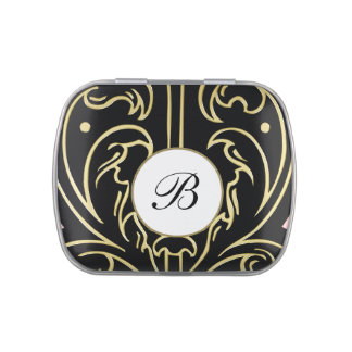 Classy Monogram After Dinner Mints Candy Tins