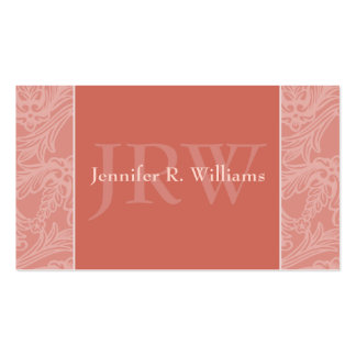Classy Monogram Burnt Sienna Business Card