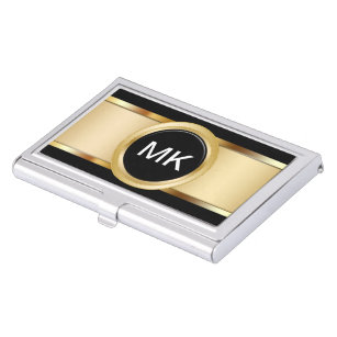 Classy business card holders cases zazzle classy monogram business card holders colourmoves