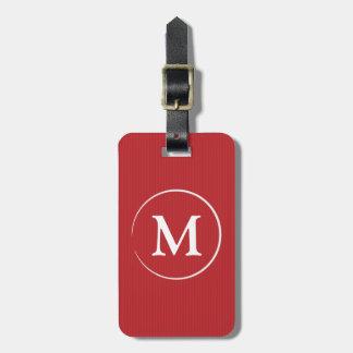 Classy Monogram Luggage Tag