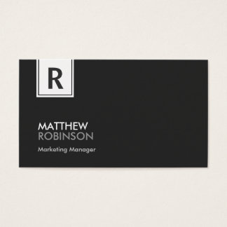 Classy Monogram - Modern Black and White Business Card