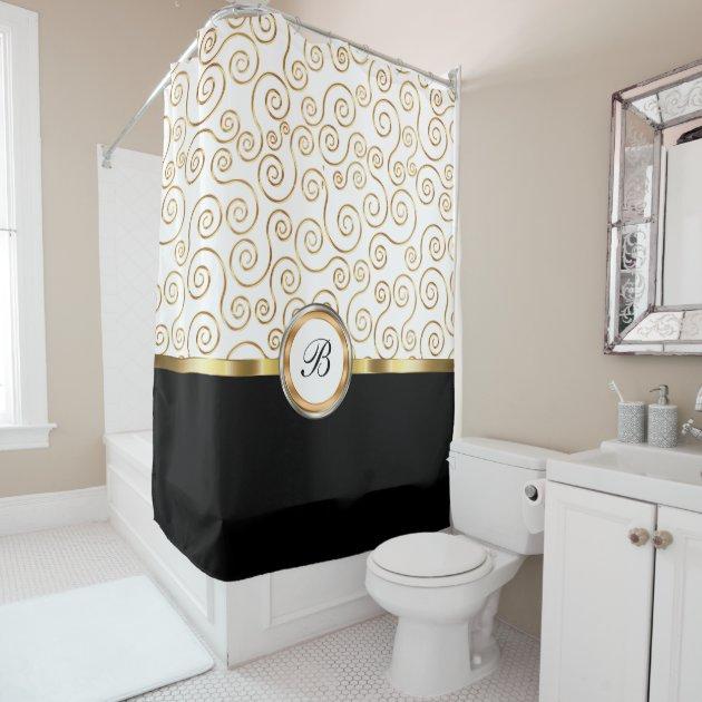 Classy Shower Curtain classy monogram shower curtain | zazzle