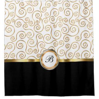 Classy Monogram Shower Curtain