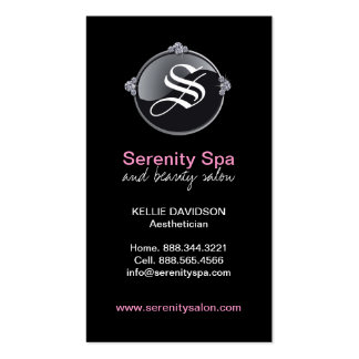 Classy  Monogram - Spa and Salon Business Card