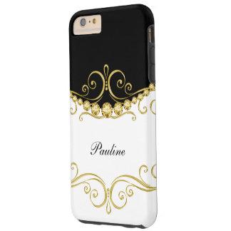 Classy Monogram Style Tough iPhone 6 Plus Case