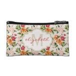 Classy Monogram Vintage Victorian Floral Flowers Makeup Bag at Zazzle