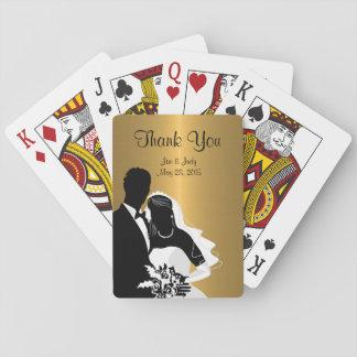 Classy Monogram Wedding Favors Deck Of Cards