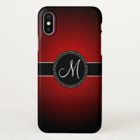 Classy Monogrammed iPhone X Case