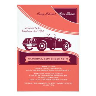 Classy Motorcar Car Show Announcement/Invitation Card