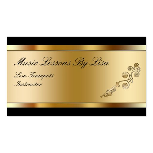 Classy Music Lessons Business Cards : Zazzle