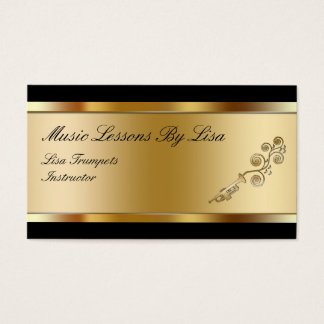 Classy Music Lessons Business Cards