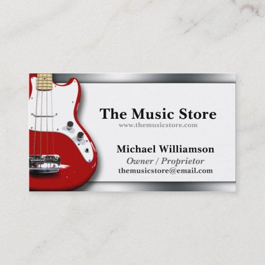 Classy music store business cards zazzle classy music store business cards colourmoves