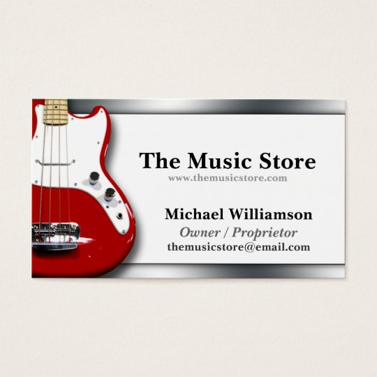 Classy music store business cards