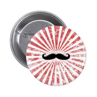Classy Mustache Pinback Button