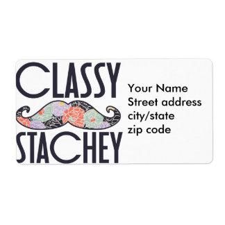 Classy Mustache Custom Shipping Labels