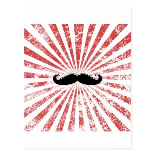 Classy Mustache Postcard
