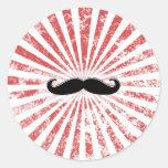 Classy Mustache Stickers