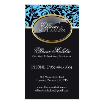 Classy Nail Salon and Aesthetics Business Cards