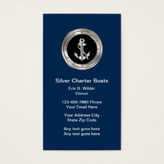 Classy Nautical Business Cards