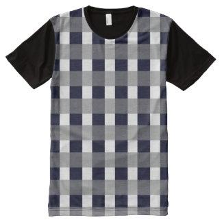 Classy Navy All-Over-Print Shirt