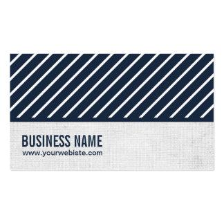Classy Navy Blue Striped Storyteller Business Card