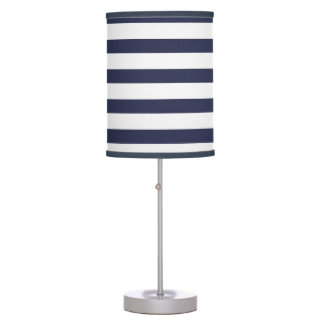 Classy Navy Blue Stripes Table Lamp
