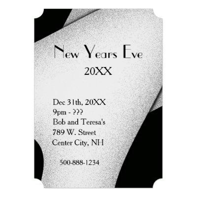 Classy New Years Eve Invitation