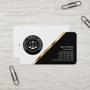 classy notary business cards - Classy Business Cards