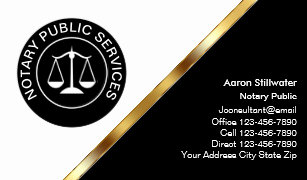 classy notary business cards - Notary Business Cards