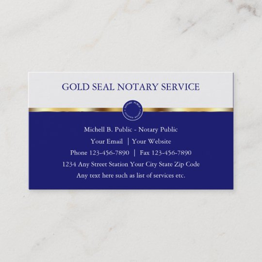 classy notary public business cards - Notary Public Business Cards
