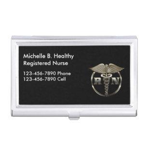 Registered nurses business card holders cases zazzle classy nurse medical case for business cards colourmoves Choice Image