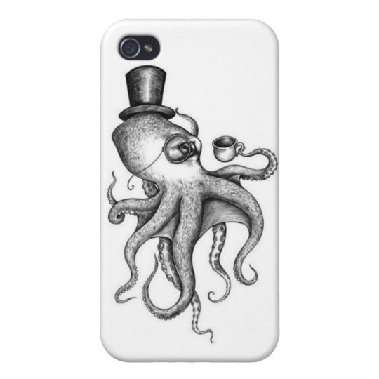 Classy Octopus Cover For iPhone 4