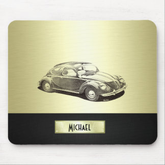 Classy Old car gold Mouse Pad